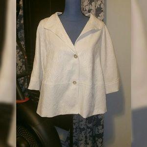 Sz 20W Jones New York, white blazer, GUC